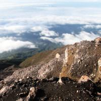 24871328 - view from slope of volcano kerinci in indonesia