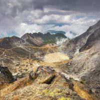 40687272 - sibayak volcano near berastagi in northern sumatra, indonesia