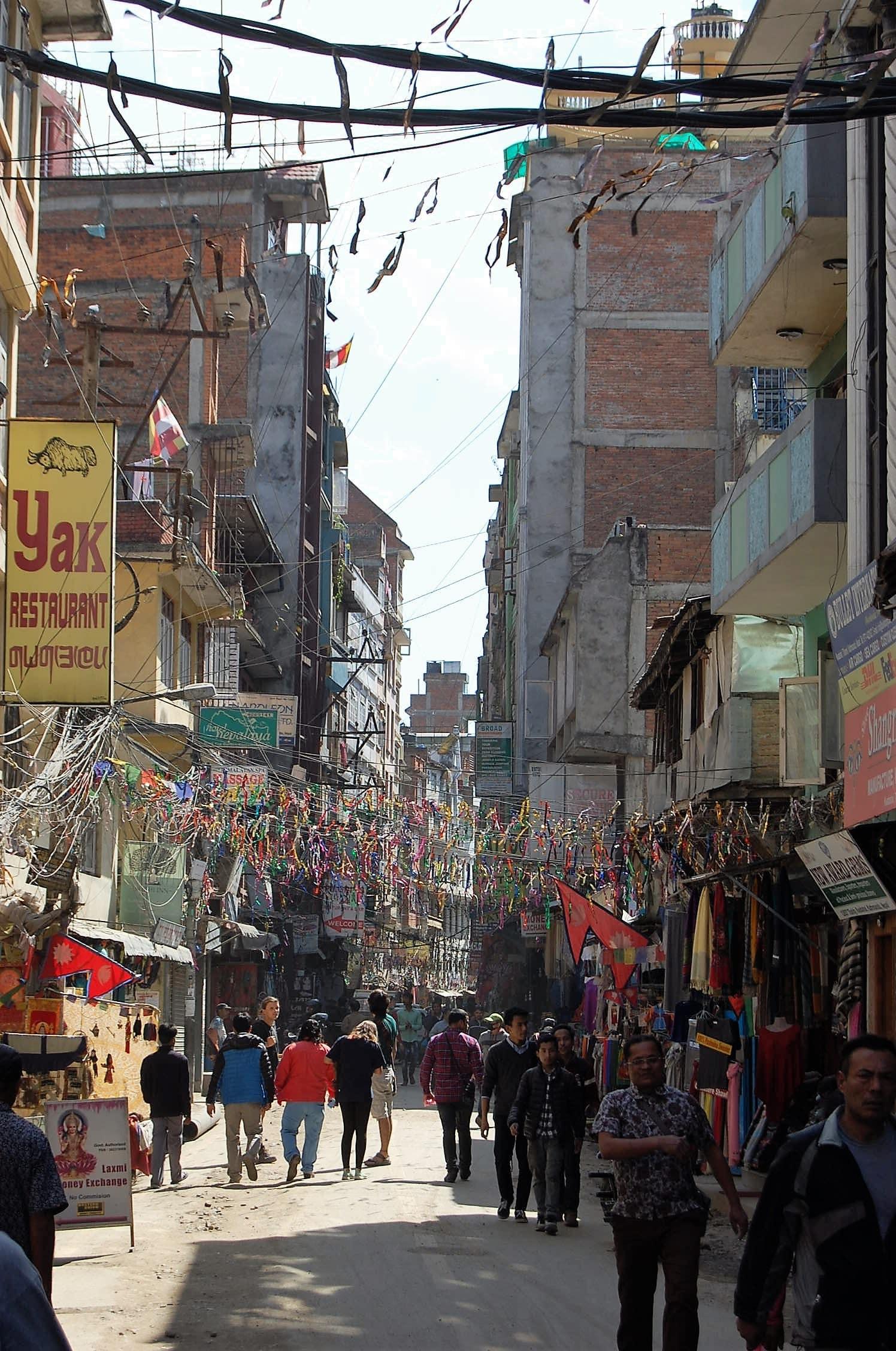 straatbeeld nepal