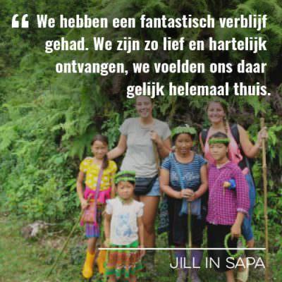 Jill op reis naar Sapa in Vietnam