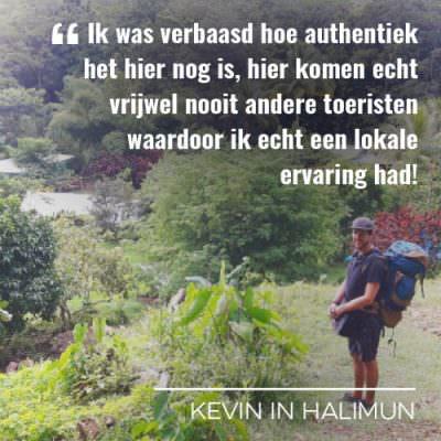 Kevin op reis naar Halimun op Java